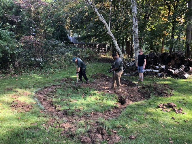 Subsidence and Regrading for Landscape Drainage | Chappaqua, NY