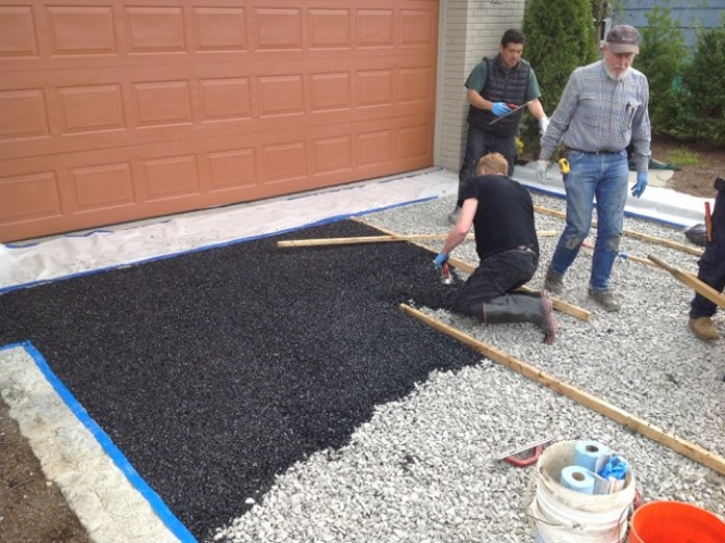 Installing a Porous Pave Driveway – Rye NY