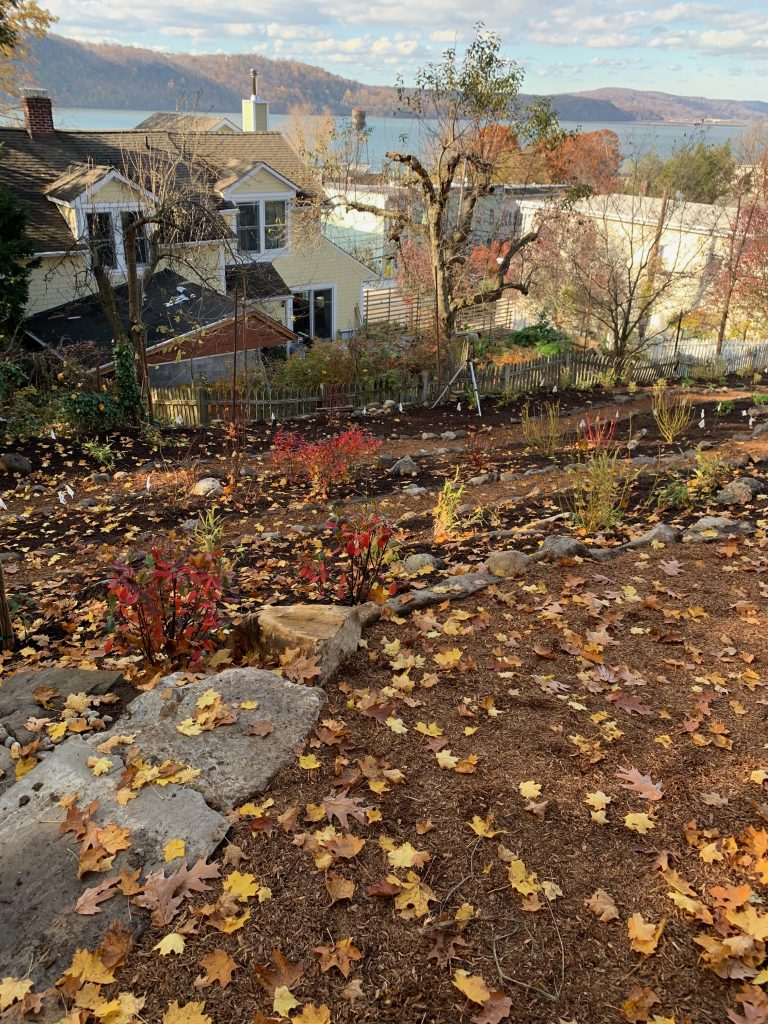 Permaculture Terrace Garden with Erosion Control | Hastings, NY